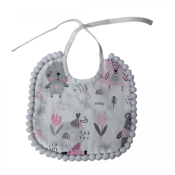 Śliniaczek dla niemowlaka - leśne zwierzątka | Kokonik.com