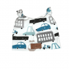 Czapeczka dla noworodka, z uszkami - auta | Kokonik.com