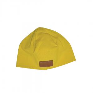 Musztardowa czapeczka dla noworodka | Kokonik.com